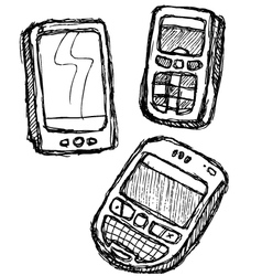 scribble series - mobilephone vector image vector image
