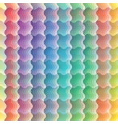seamless vivid wave pattern vector image