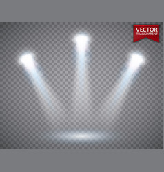 spotlights scene transparent light effects stage vector image vector image