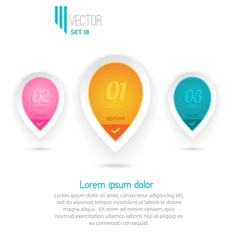 Three colorful icons vector image vector image