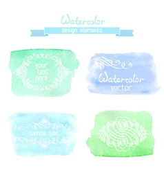Abstract hand-drawn watercolor backgrounds vector image vector image