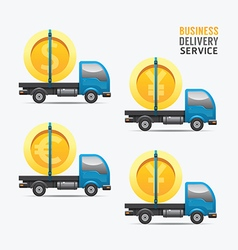 Business delivery service money design concept vector image vector image