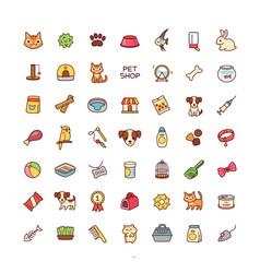 icons pet shop vector image