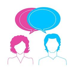 Man and woman avatars vector image vector image