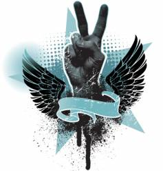 peace hand sign vector image