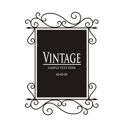 Vintage Lamp sign vector image vector image