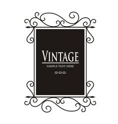 Vintage Lamp sign vector image
