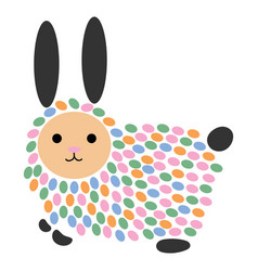 A cartoon hare stylized vector