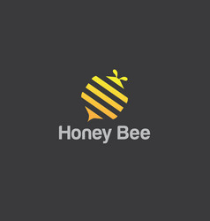 abstract bee and honeycomb vector image
