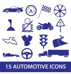 Automotive icon collection eps10 vector