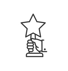 award - line design single isolated icon vector image
