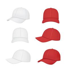 baseball cap sport clothes realistic mockup front vector image