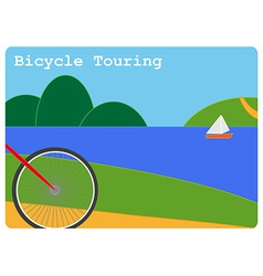 Bicycle touring vector