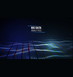 black data technology background business vector image