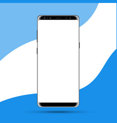 blank screen new modern realistic smartphone vector image