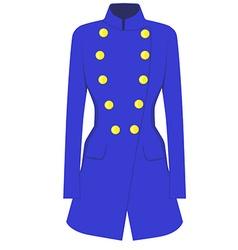 Blue coat vector
