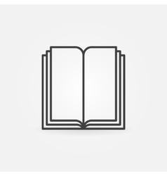 Book linear symbol vector image vector image