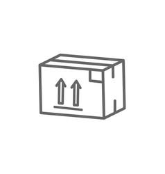 box flat icon vector image
