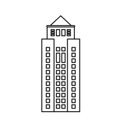 Building property skyscraper outline vector