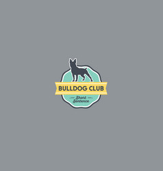 Bulldog logo on a badge vector
