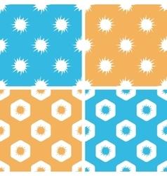 Burst pattern set colored vector image