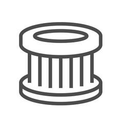 Car air filter icon vector