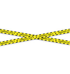 Caution biohazard black and yellow striped borders vector