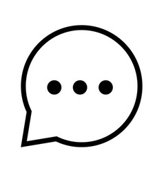 Chat icon in speech bubble - iconic design vector