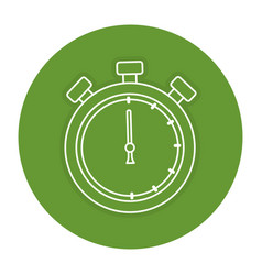 Chronometer timer isolated icon vector