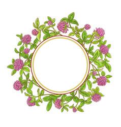 clover branch frame vector image