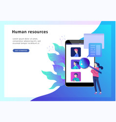 concept human resources banner presentation vector image