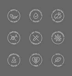 Cosmetics round isolated product icon set round vector