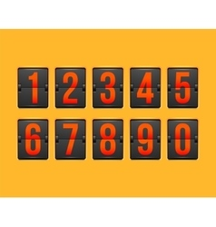 Countdown timer white color mechanical scoreboard vector image