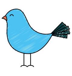 cute bird drawing icon vector image