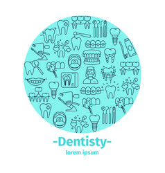 Dentistry and orthodontics banner vector