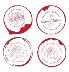 Design logo for wine vector