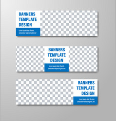 design of white horizontal web banners with place vector image