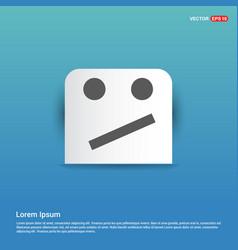 emoji icon - blue sticker button vector image