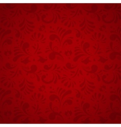 Floral Seamless Pattern Subtle Red vector image