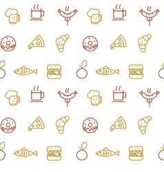 Foodstuff pattern vector