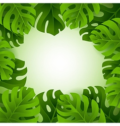 Frame with monstera leaves and copy space vector