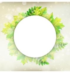 Fresh green leaves border EPS 10 vector image