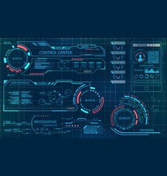Futuristic user interface virtual graphic touch vector