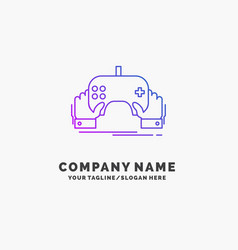 game gaming mobile entertainment app purple vector image