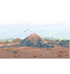 Garage dump concept landscape vector
