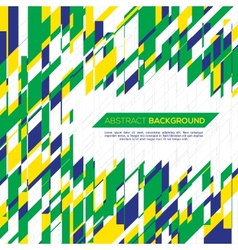 Geometric background in Brazil concept vector