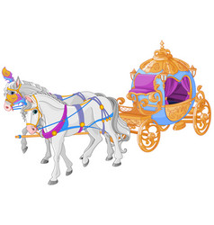 golden carriage vector image