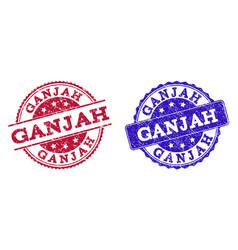 Grunge scratched ganjah seal stamps vector