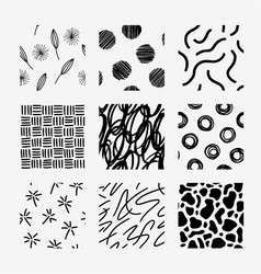 hand draw pattern swatch set vector image