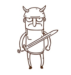 Hand Drawn Gladiator vector image vector image